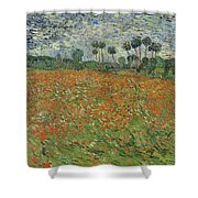 Field Of Poppies, Auvers-sur-oise, 1890 Shower Curtain