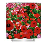 Field Of Poppies Shower Curtain