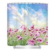 Field Of Poppies Stillliefe Shower Curtain