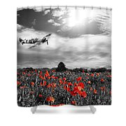 Field Of Red Shower Curtain