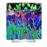 Field Of Tulips - Photopower 1496 Shower Curtain