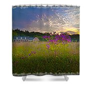 Field Of View Sunset Shower Curtain