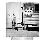 Field Office Of The Wpa Government Agency Shower Curtain by American Photographer