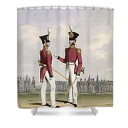 Field Officers Of The Royal Marines Shower Curtain