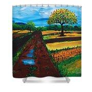 Field Road Shower Curtain