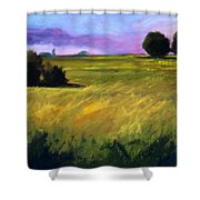 Field Textures Shower Curtain