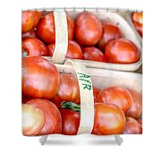 Field Tomatoes Shower Curtain