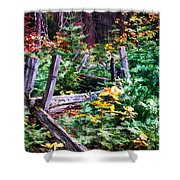 Fields And Fences Of Wawona In Yosemite National Park Shower Curtain