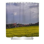 Fields Of Rapeseed In Bloom, Lower Shower Curtain