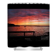 Fiery Afterglow Shower Curtain