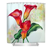 Fiery Callas Shower Curtain