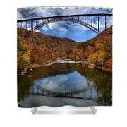 Fiery Colors At New River Gorge Bridge Shower Curtain