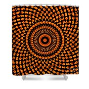 Fiery Floral Pattern Shower Curtain