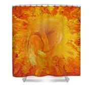 Fiery Love Shower Curtain