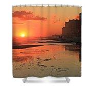 Fiery Seashore Shower Curtain