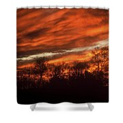 Fiery Sky Shower Curtain