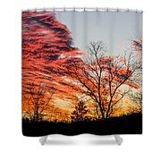 Fiery Sundown Shower Curtain