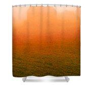 Fiery Sunrise On The Farm Shower Curtain
