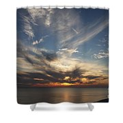 Fiery Sunset Skys Shower Curtain