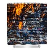 Fiery Transformation Shower Curtain