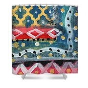Fiesta 4- Colorful Pattern Painting Shower Curtain