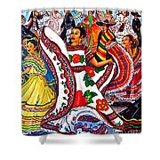 Fiesta Parade Shower Curtain