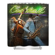 Fifties Cocktail Jazz Shower Curtain