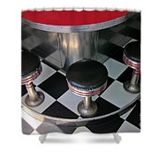 Fifties Diner Detail Shower Curtain