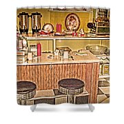 Fifty's Lunch Counter  Nostalgic Shower Curtain