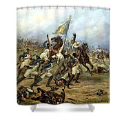 Fight For The Banner Shower Curtain by Victor Mazurovsky