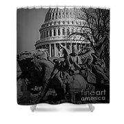 Fight In Washington Shower Curtain