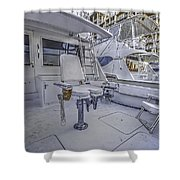 Fighting Chair Shower Curtain