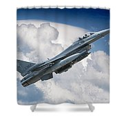 Fighting Falcon Shower Curtain