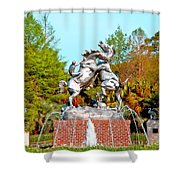 Fighting Stallions Shower Curtain