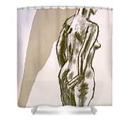 Figure Collage Shower Curtain
