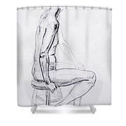 Figure Drawing Study V Shower Curtain