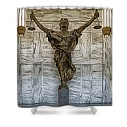 Figure Of Justice Shower Curtain