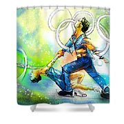 Figure Skating 01 Shower Curtain