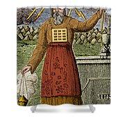 Figure Symbolizing Judaism Shower Curtain