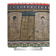 Figures Used To Teach Thai Massage In Wat Po In Bangkok-thailand Shower Curtain