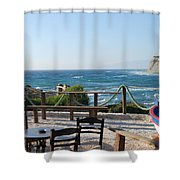 Fiki Cafe Shower Curtain