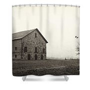Filley Stone Barn 2 Shower Curtain