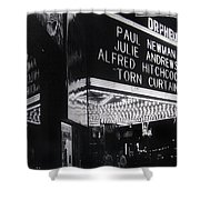 Film Homage Alfred Hitchcock Torn Curtain 1966 Orpheum Theater St. Paul Minnesota 1966 Shower Curtain