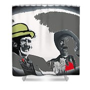 Film Homage Andy Devine  Chill Wills Old Tucson Arizona 1971-2009  Shower Curtain