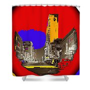 Film Homage Arthur Rothstein Theater Row  Majestic Melba  Palace Theaters Dallas Texas 1942-2008 Shower Curtain
