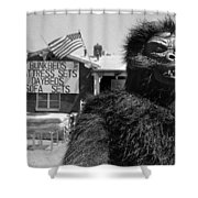 Film Homage Barbara Payton Bride Of The Gorilla 1951 Gorilla Pitchman Tucson Arizona July 4th 1991 Shower Curtain
