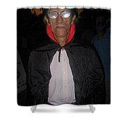 Film Homage Bela Lugosi Dracula 1931 Halloween Party Casa Grande Arizona 2005 Shower Curtain