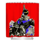 Film Homage Cameron Mitchell The High Chaparral Fighting Apache Publicity Photo Collage Shower Curtain