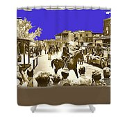 Film Homage Cameron Mitchell The High Chaparral Main Street Old Tucson Az Publicity Photo Shower Curtain