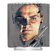 Film Homage Close-up James Cagney Angels With Dirty Faces 1939-2014 Shower Curtain
